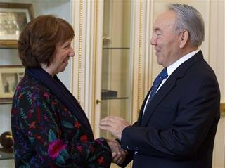 Catherine Ashton, Nursultan Nazarbayev