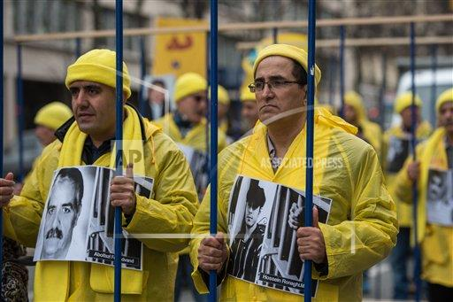 France Iranian opposition protesters