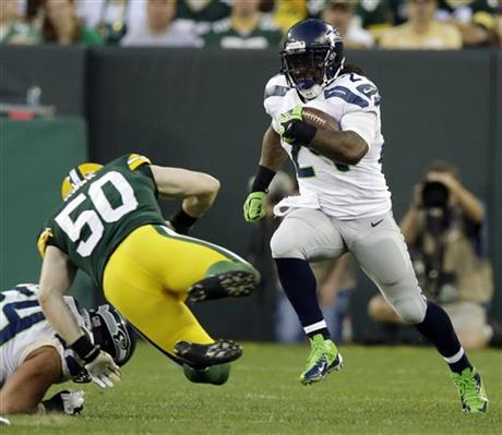Marshawn Lynch, A.J. Hawk