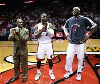 Dwyane Wade, LeBron James, Tim Hardaway