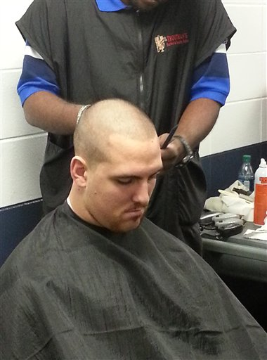 Colts Shaved Heads Football