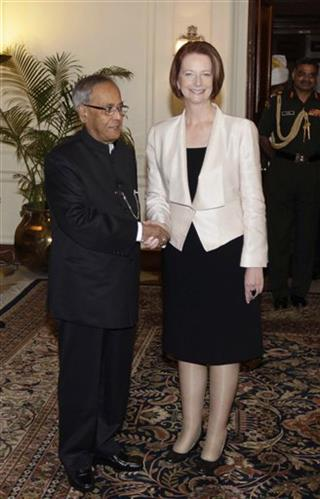 Julia Gillard, Pranab Mukherjee
