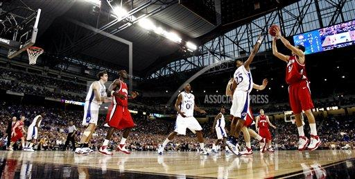 NCAA Davidson Kansas Basketball