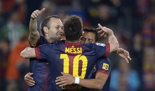 Lionel Messi, Andres Iniesta, Alexis Sanchez