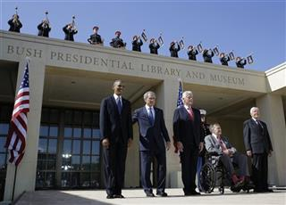APTOPIX Bush Library