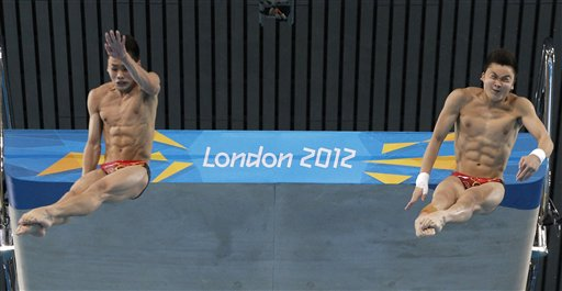 APTOPIX London Olympics Diving Men