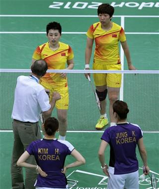 London Olympics Badminton Playing to Lose