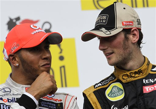 Romain Grosjean, Lewis Hamilton