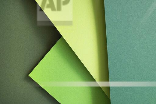 Green set of paper as an abstract background