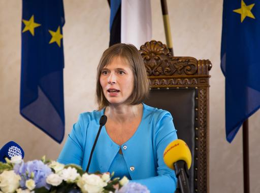 Estonia's first female president sworn in