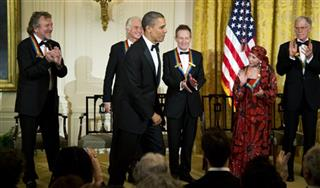 Barack Obama, David Letterman, Natalia Makarova, John Paul Jones, Jimmy Page, Robert Plant