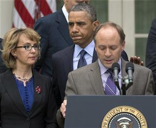 Barack Obama, Mark Barden, Gabby Giffords