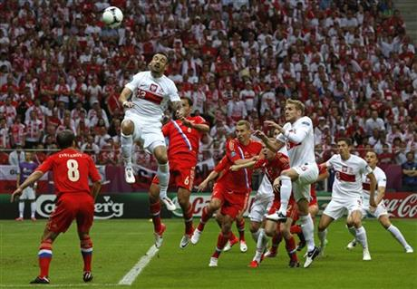 CORRECTION Soccer Euro 2012 Poland Russia
