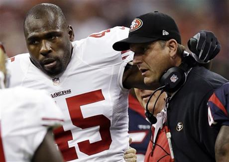 Brandon Jacobs, Jim Harbaugh