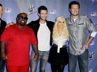 Carson Daly, Cee Lo Green, Adam Levine, Blake Shelton, Christina Aguilera