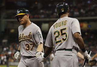 Brandon Moss, Chris Young