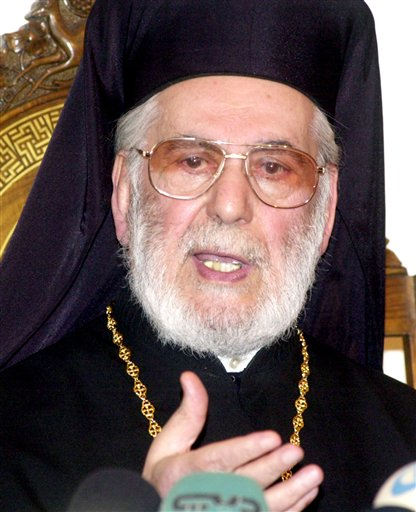 Syria Obit Orthodox Patriarch