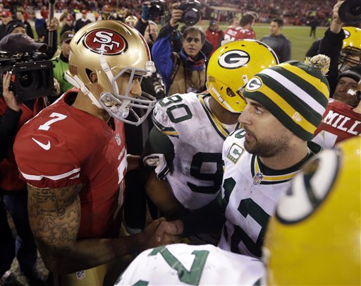 Aaron Rodgers, Colin Kaepernick