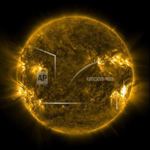 Creative AP Photo/Stocktrek Images A Outer Space   square Solar activity on the Sun.