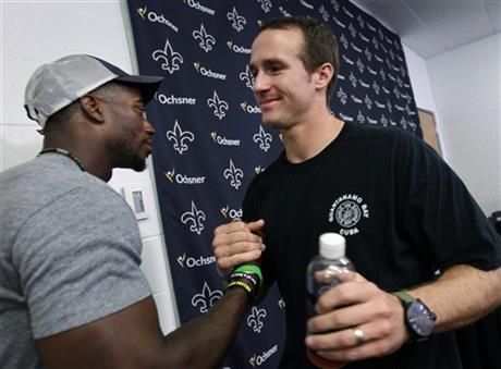 Drew Brees, Roman Harper