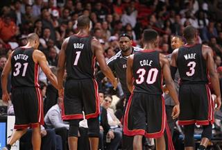 The Philadelphia 76ers against the Miami Heat 03/08/2013