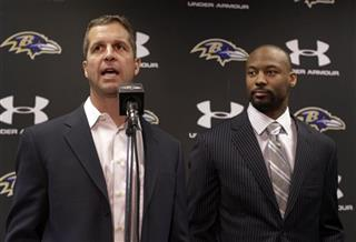 Michael Huff, John Harbaugh