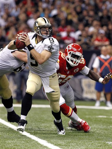 Drew Brees, Justin Houston