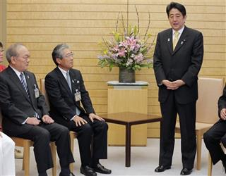 Shinzo Abe, Tsunekazu Takeda, Mitsunori Torihara