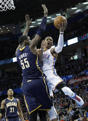 Russell Westbrook, Roy HIbbert