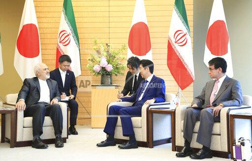 Iranian Foreign Minister meets PM Abe