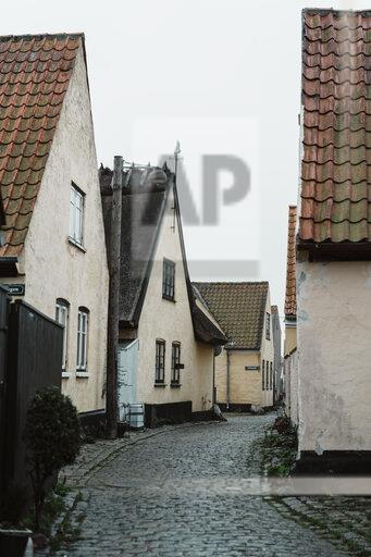 Denmark, Dragor, residential houses in the old town