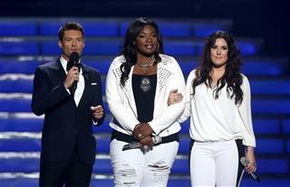 Ryan Seacrest, Candice Glover, Kree Harrison