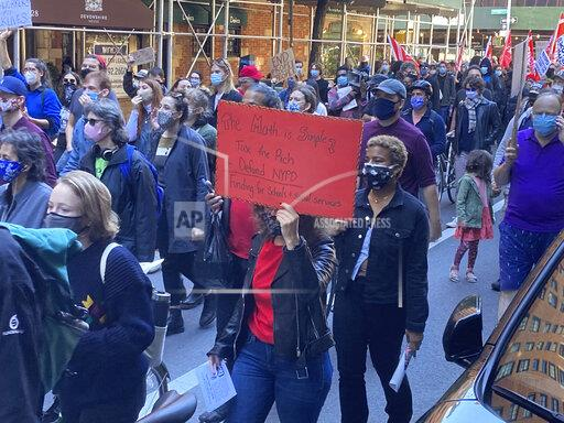 A Mass Anti-Police March is seen in NYC - 10/17/20