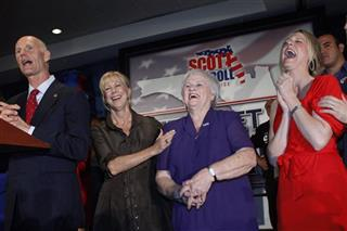 Rick Scott, Ann Scott, Esther Scott, Allison Guimard