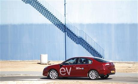 Mideast Israel Electric Car