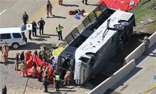 APTOPIX Bus Crash Texas
