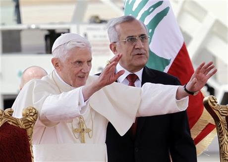 APTOPIX Mideast Lebanon Pope Benedict XVI