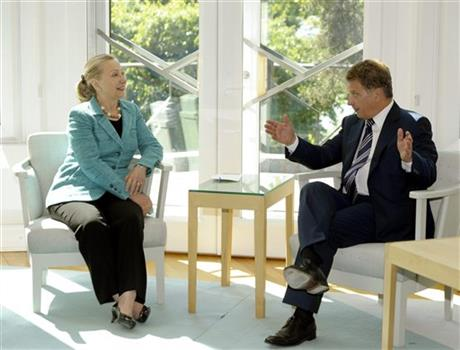 U.S. Secretary of State Hillary Rodham Clinton visiting Finland