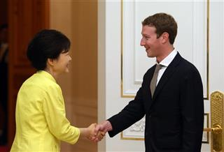 Park Geun-hye, Mark Zuckerberg