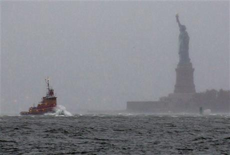 Superstorm-Liberty Island