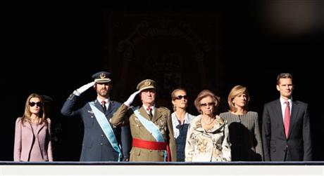 Princess Letizia Ortiz, Crown Prince Felipe, King Juan Carlos, Princess Elena, Queen Sofia, Princess Cristina, Inaki Urdangarin