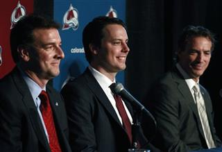 Josh Kroenke, Joe Sakic, Greg Sherman