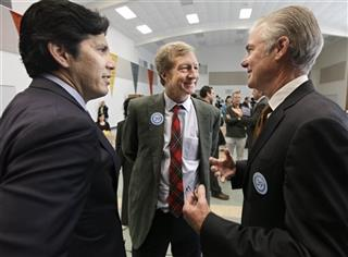 Kevin de Leon, Tom Steyer, Tom Torlakson