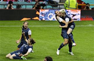 Kelley O'Hara, Tobin Heath, Alex Morgan, Megan Rapinoe