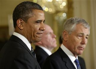Barack Obama, Chuck Hagel, John Brennan
