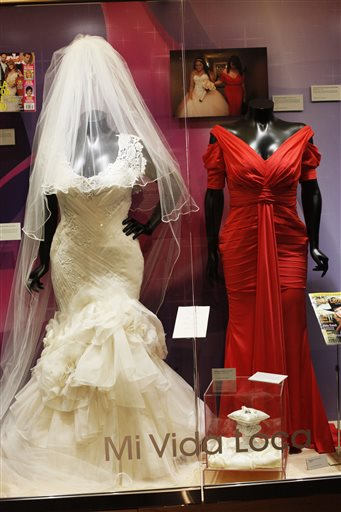 jenni rivera s wedding dress by eduardo lucero left and red dress by