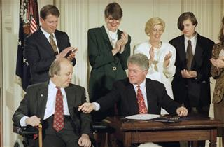 Bill Clinton, James Brady