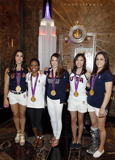 Aly Raisman, Gabby Douglas, McKayla Maroney, Kyla Ross, Jordan Wieber
