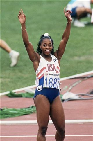 Barcelona Olympics 100M Gail Devers