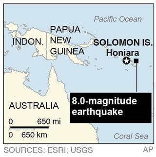 SOUTH PACIFIC EARTHQUAKE